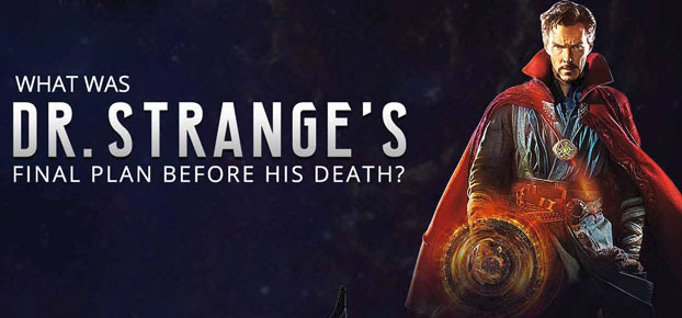 what was dr.strange final plan before death in avengers movie endgame poster