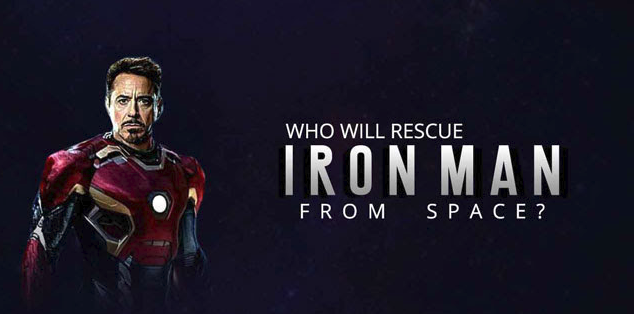 who will rescue IRON MAN from space
