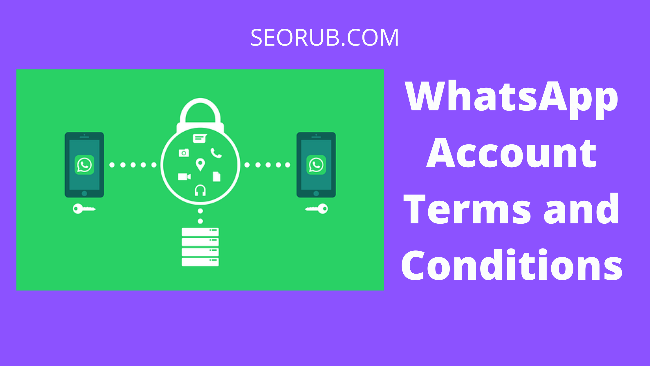 WhatsApp account terms and conditions