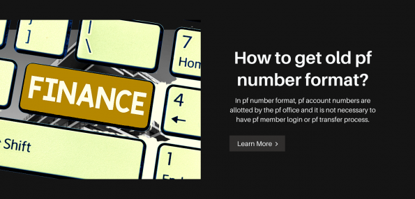 How to get old pf number format