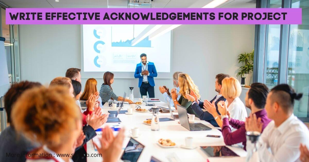 How to Write an Acknowledgement for Project Report in College